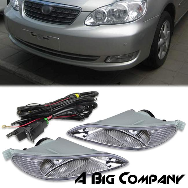 2008 Toyota Corolla Ce Le S Bumper Lamps Fog Lights Kitswitch Clear
