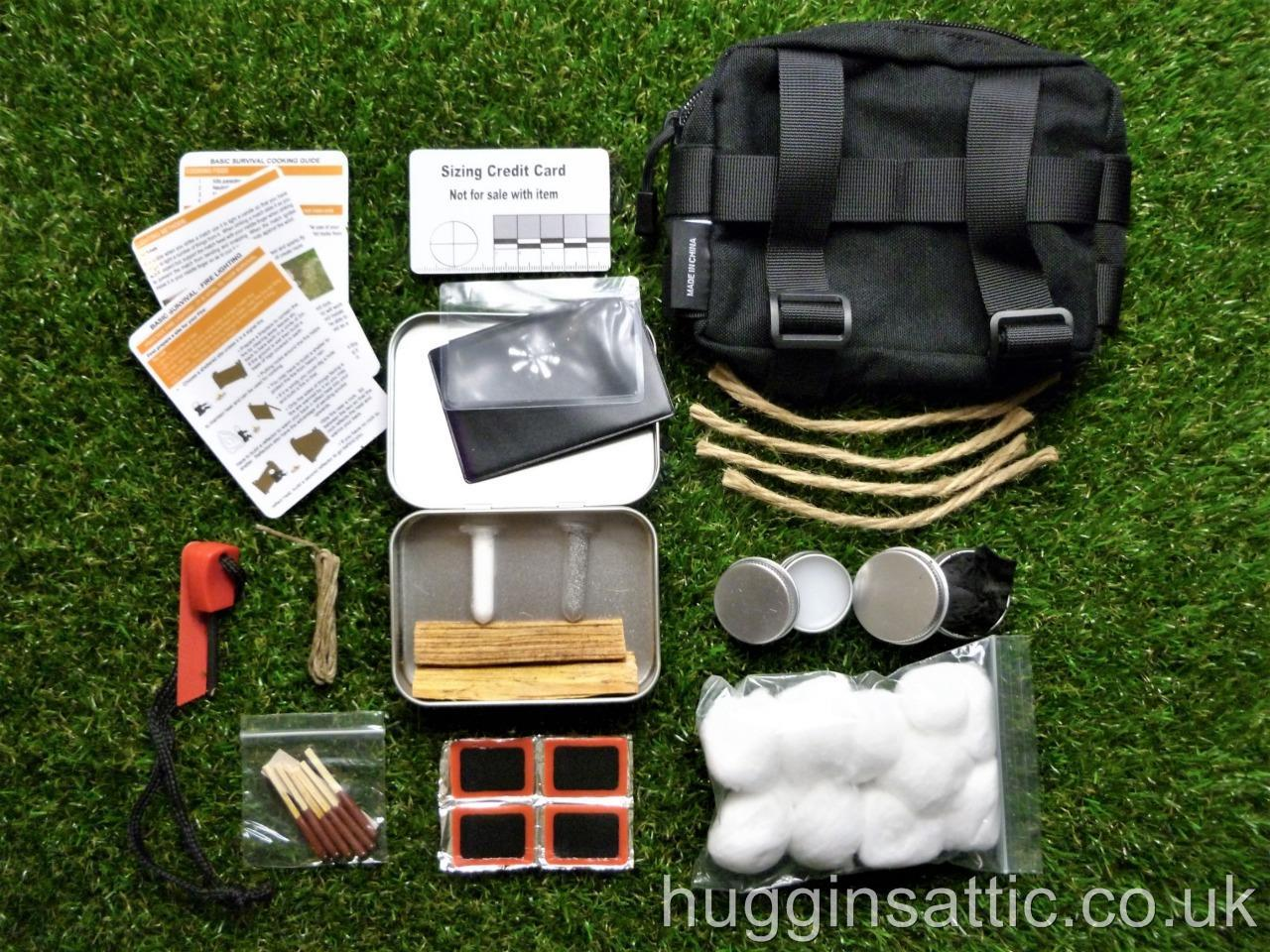 Beginners Fire Steel And Tinder Kit For Bushcraft
