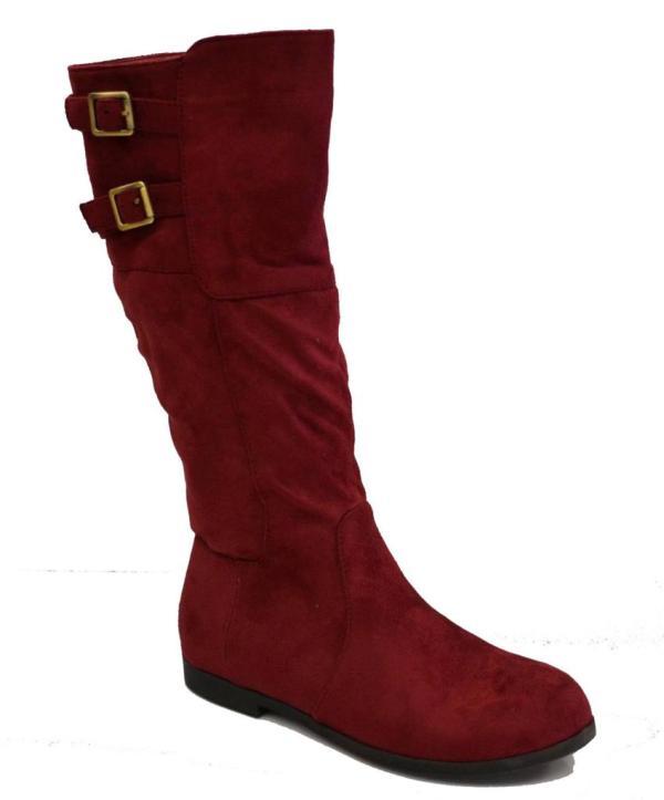 Knee High Suede Flat Boots Women