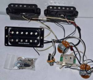Jackson DK2 Skull Guitar Pickups & Wiring Harness Duncan