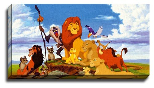 new the lion king canvas wall art picture print poster ebay