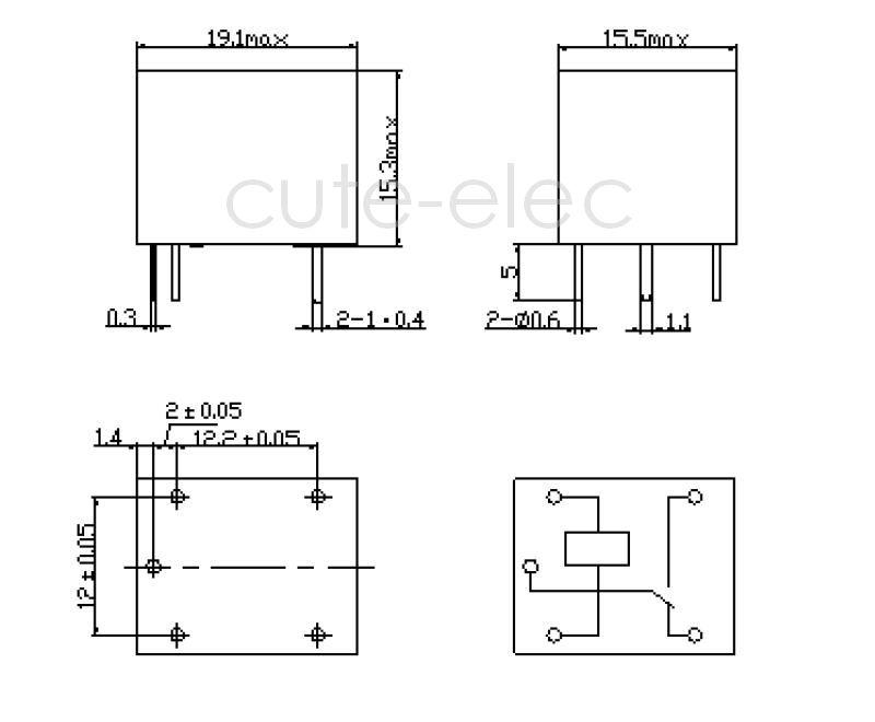 5v 1 Spdt Relay Schematic Single Pole Single Throw Relay
