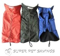 Waterproof DOG Coat Jacket Fleece Lined Reflective ...