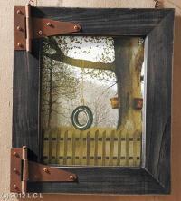 RUSTIC WOODEN BARN DOOR PICTURE FRAME W/NOSTALGIC RURAL ...