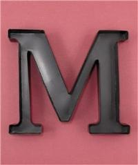 METAL MONOGRAM LETTER-SHAPED INITIAL WINE CORK HOLDER WALL ...