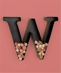 Unique Metal Monogram Letter Shaped Initial Wine Cork ...