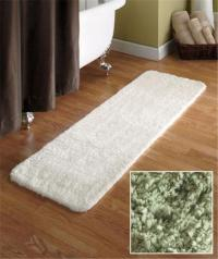 "54"" MICROFIBER PLUSH BATHROOM BATH RUNNER RUG W/NONSLIP ..."