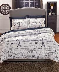 VINTAGE PARIS TRAVEL THEMED EUROPEAN CHARM COMFORTER SHAMS ...