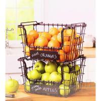 Kitchen Wire Fruit Basket Vegetable Hartney Stacking ...