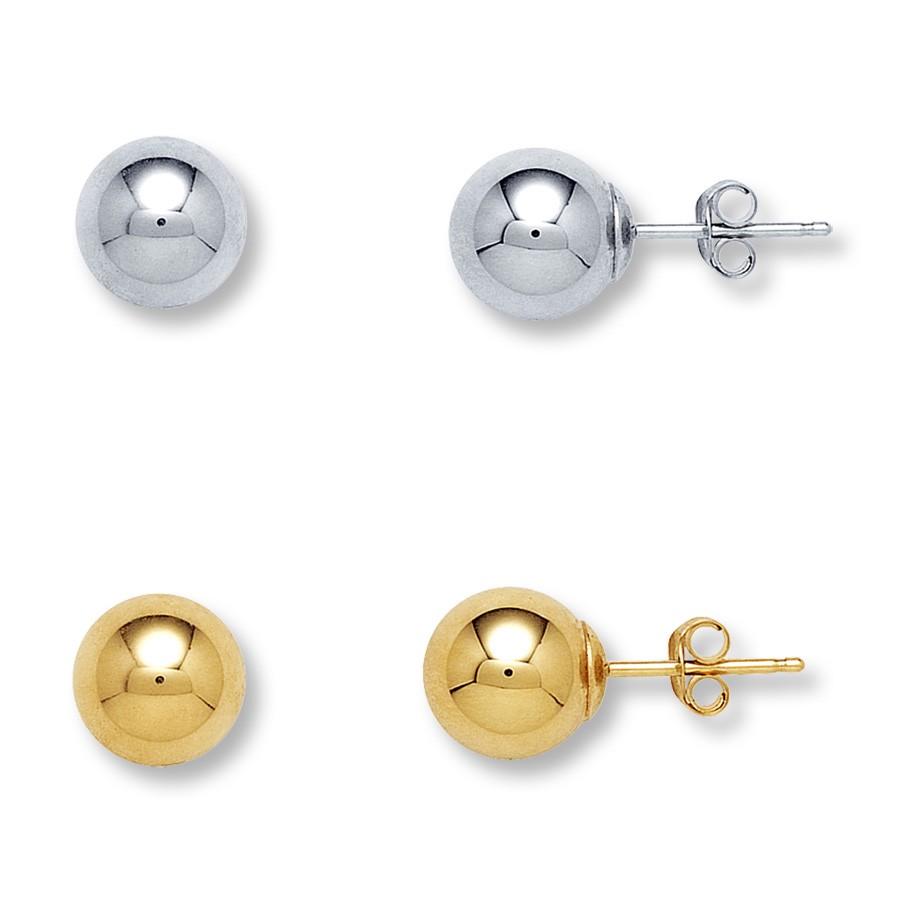 Stud earring sizes