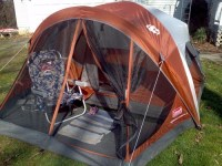 Coleman 4 Person Evanston Tent with Screened Porch Canopy ...