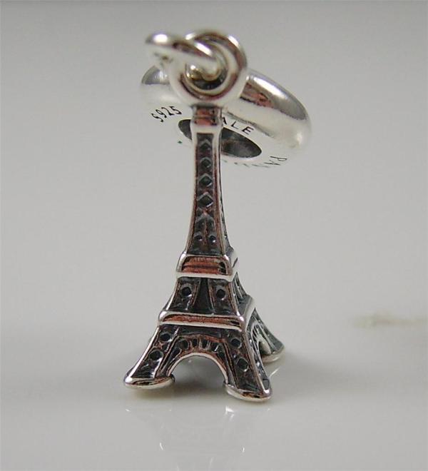 Authentic Genuine Pandora Silver Eiffel Tower Dangle Charm