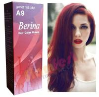 Berina Permanent Color Hair Dye Cream Garnet Red # A9 Free ...