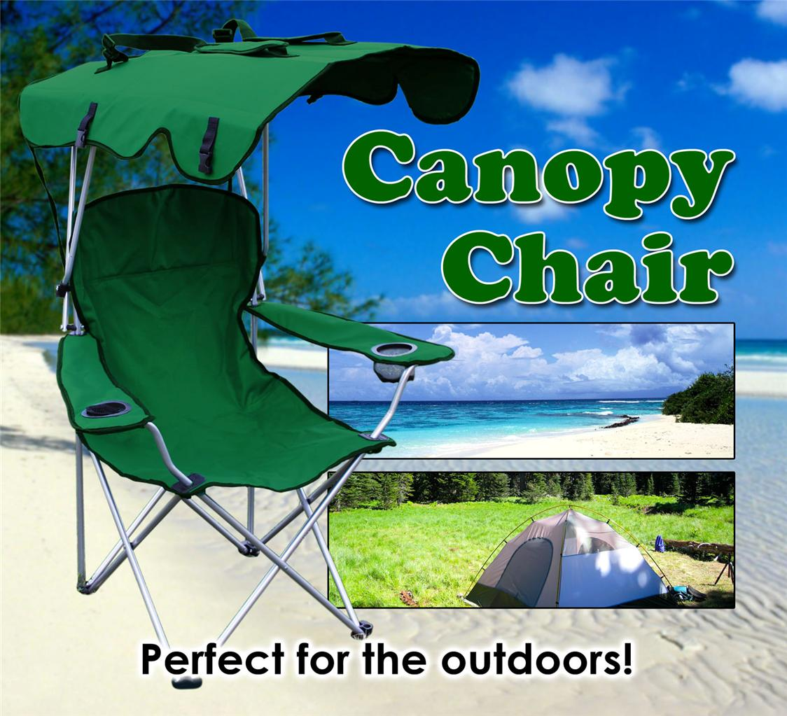 Camp Chair With Canopy 2 X Folding Canopy Chair Beach Camping Chair Xl