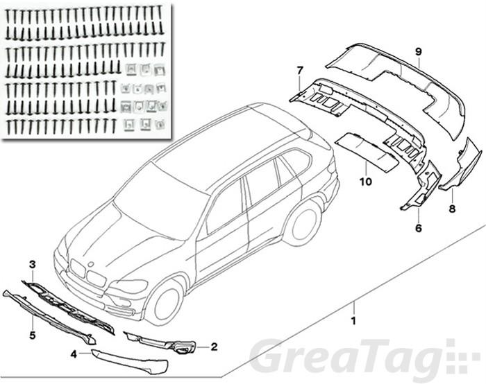 FOR BMW 07-10 E70 X5 xDRIVE AERODYNAMIC BODY KIT FRONT
