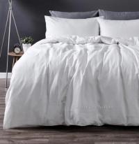 French Provincial White Linen King Bed Doona Duvet Quilt ...