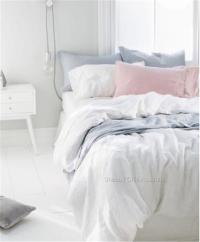 French Provincial Pink Linen King Bed Doona Duvet Quilt ...