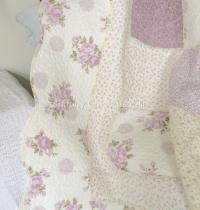 Queen Bed Country Lavender Shabby Rag & Roses Chic ...