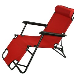 Folding Outdoor Lounge Chair Padded Chairs Uk New Light Portable Recliner