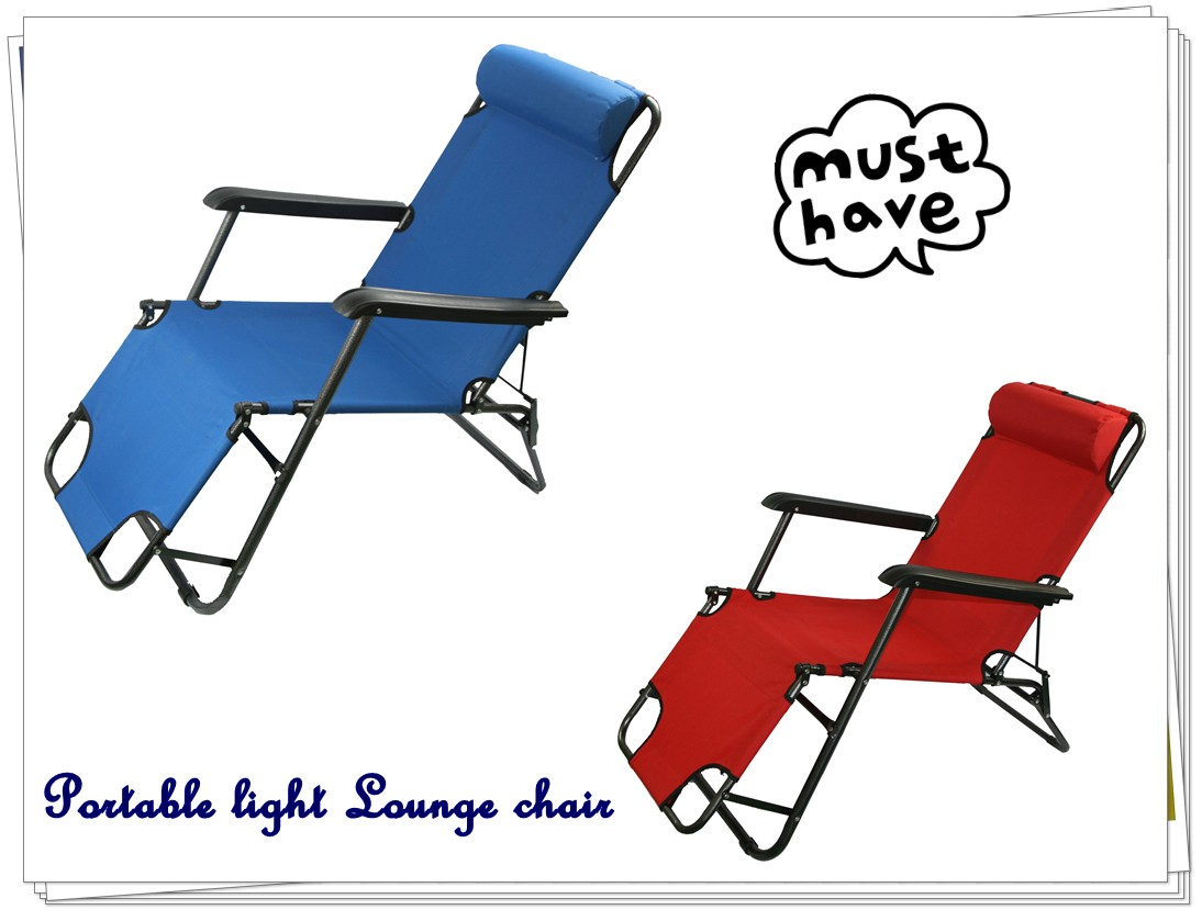 Lightweight Folding Beach Lounge Chair New Light Portable Folding Recliner Outdoor Lounge Chair