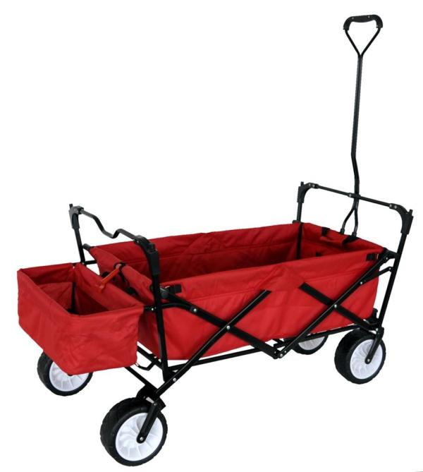 Red Foldable Wagon with Canopy