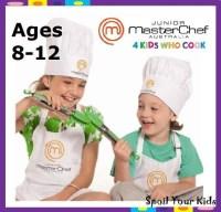 JUNIOR MasterChef 8-12 years White Apron and Chef Hat Set ...