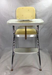 Vintage 1950s Yellow  Chrome Cosco Highchair High Chair