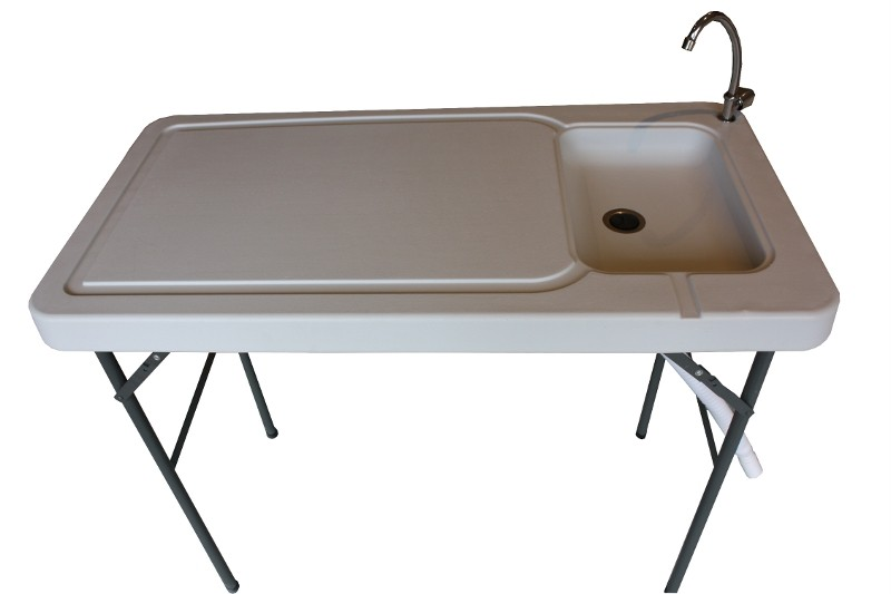 Newport Portable Camping Table with Sink  Faucet