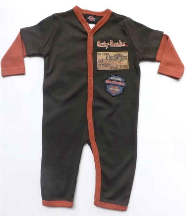 Harley Davidson Infant Baby Boys Apparel Piece Footed