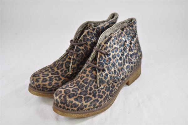 Unity In Diversity Leopard Pony Hair Lace Ankle Boot