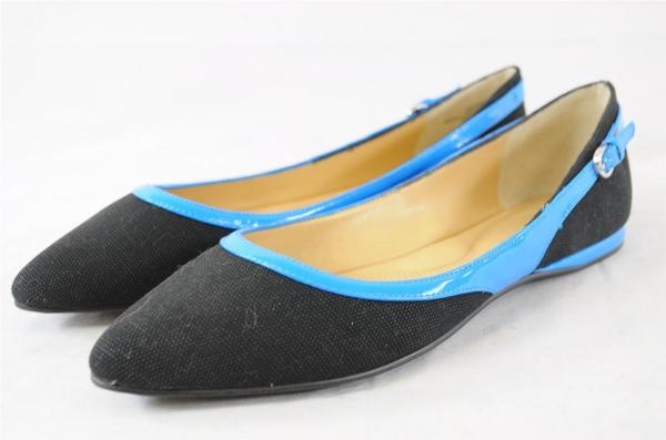 Nine West Superfly8 Black Blue Canvas Pointed Toe