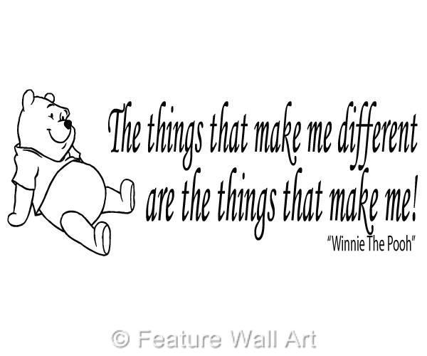 WINNIE THE POOH bear quote, wall art, boy / girl bedroom