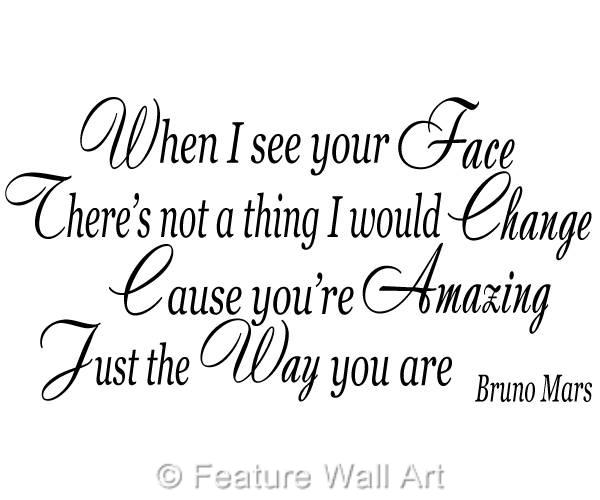 Bruno Mars Amazing Just The Way You Are Song Lyrics Wall