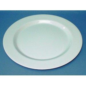 BULK LOT : 12 x LARGR ROUND MELAMINE DINNER PLATES : WHITE