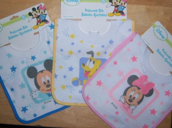 Disney Mickey Mouse Minnie Pluto Pull Over Bib Baby
