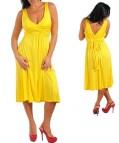 Yellow Plus Size Maxi Dresses