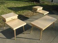 Mid Century Modern Retro Atomic Coffee & End Tables Set ...
