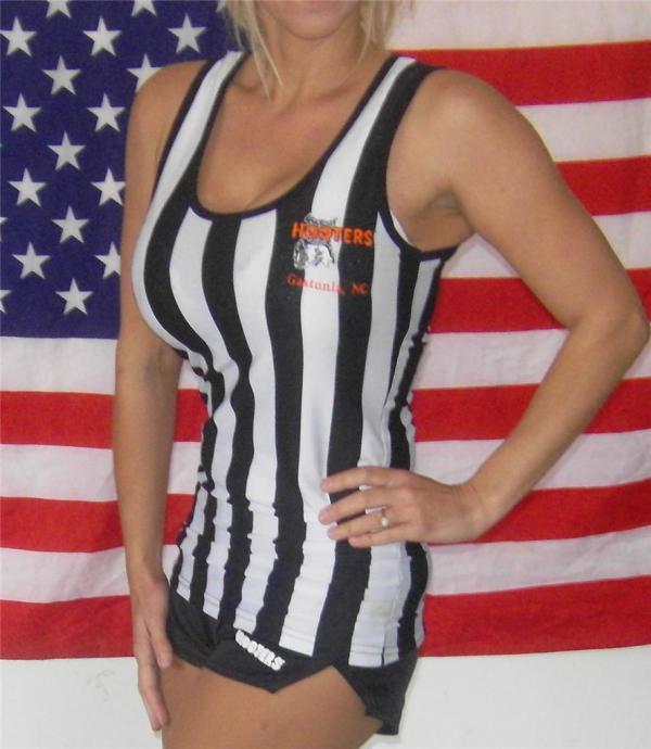 Rare Hooters Girl Referee Edition Tank Top & Shorts X