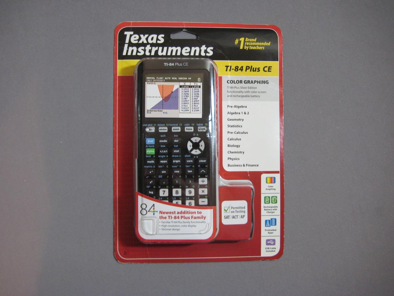 Texas Instruments Graphing Calculator Ti 84 Walmart Texas Instruments Ti 84 Plus Ce Graphing