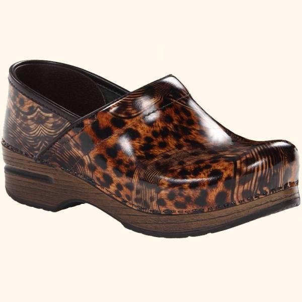 Dansko Professional Cheetah Multi Patent Leather Support