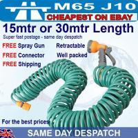 100-foot-50-ft-Retractable-green-garden-hose-pipe-coil ...