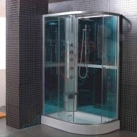 Quadrant shower enclosure all in one pod mixer valve tray ...