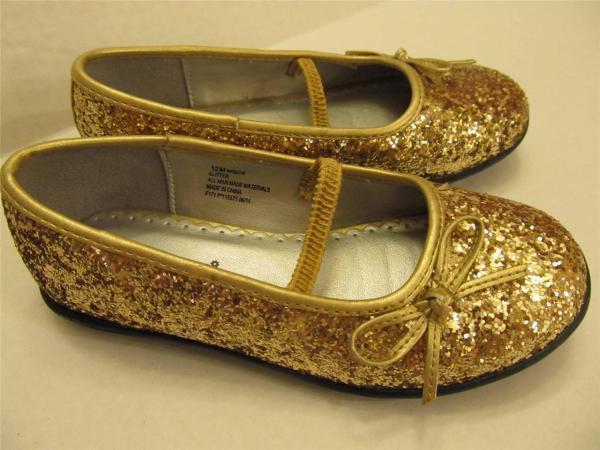 Rampage Girls Toddler Size 12 Gold Glitter Holiday Dress