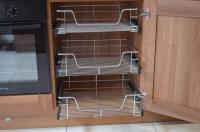 Kitchen Cabinet Cupboard Pull Out Wire Storage Basket ...