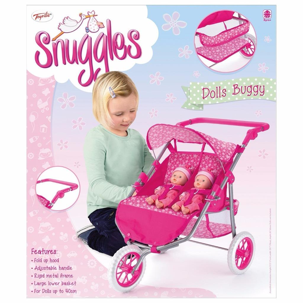 fold up chairs tesco back posture chair support dolls range twin pram stroller 3 wheeler 4 wheel buggy