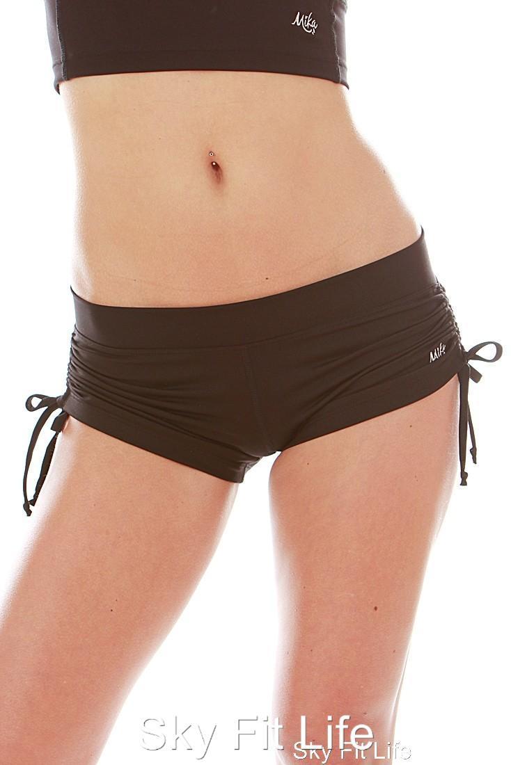 Mika Lucia Shorts Pole Dance Fitness Hot Yoga Gym Side ...