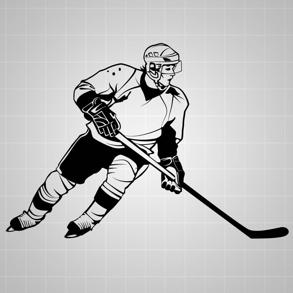 hockey player wall decal hockey wall sticker hockey decal ebay