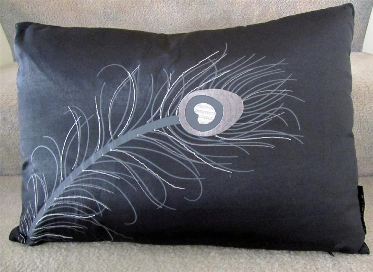 feather sofa cushions log cabin bed cushion 43 insert peacock embroidered decorative