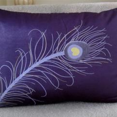 Feather Sofa Cushions Darwin Laura Ashley Cushion 43 Insert Peacock Embroidered Decorative