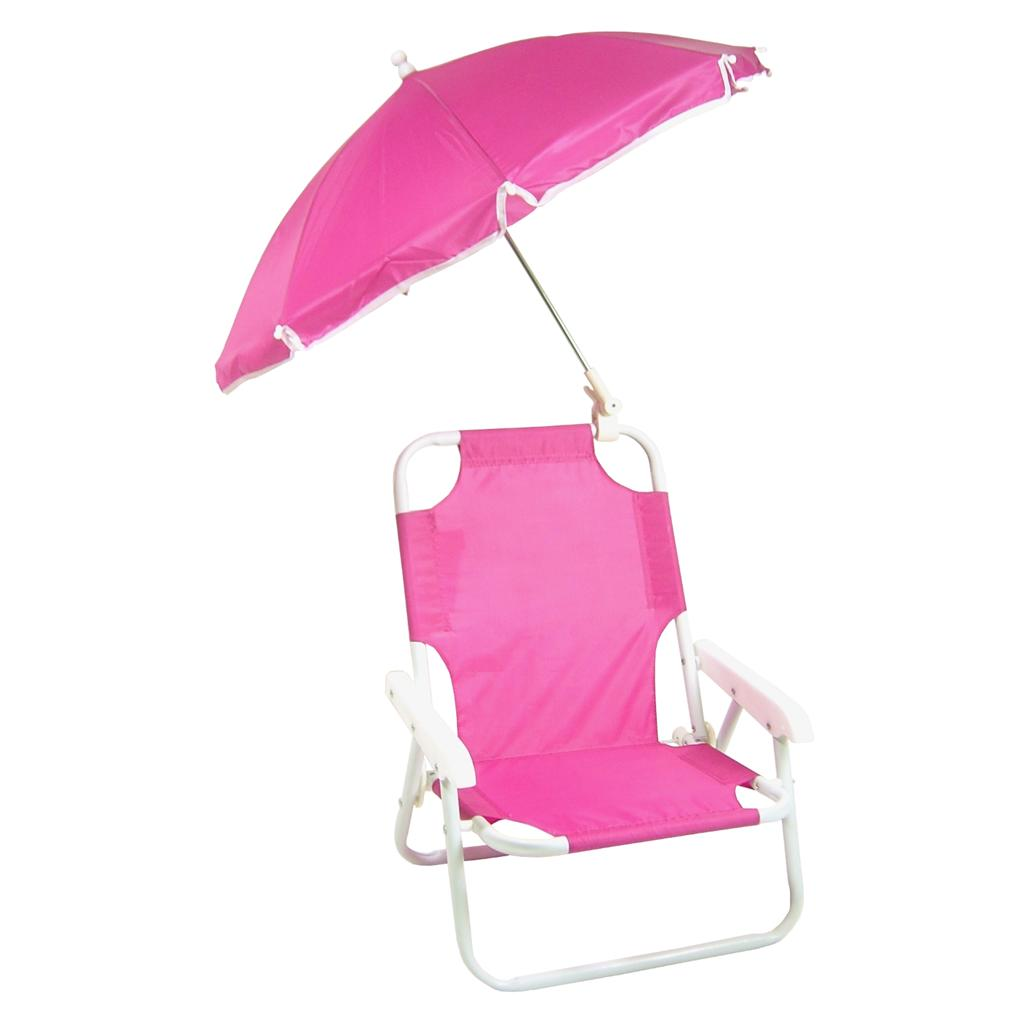 beach chairs for toddlers wooden lawn new children 39s folding chair with umbrella pink